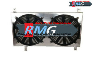 Aluminum Shroud &Fans For 94-97 Honda Accord/97-01 Prelude /97-99 CL 2.2L 4-Cyl