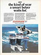 1977 MAGAZINE PRINT AD - EVINRUDE OUTBOARDS MARINE BOAT MOTORS 140 175 25 HP