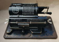 Arithmometer, Rare Soviet USSR Felix Mechanical Calculator, Adding Machine Black