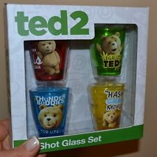 Ted 2 Boxed Set of 4 Shot Glasses 4 Piece Set Officially Licensed Legalize POT