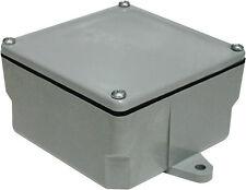 Cantex  4 in. Square  PVC  1 gang Junction Box  Gray