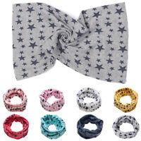 Outdoor Neck Warmer Children Cotton Scarf Stars Printed Snood Collar Scarves