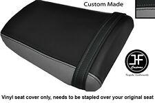 BLACK & GREY VINYL CUSTOM FOR HONDA CBR 600 RR3 RR4 03-04 REAR SEAT COVER ONLY
