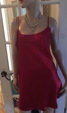 Lihanne Nightie Slip Lingerie Sleepwear Red Trim Size Xl