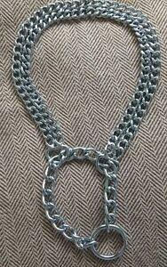 Martingale Twin Chain Choke Dog Collar 14-15 inch neck small medium #2