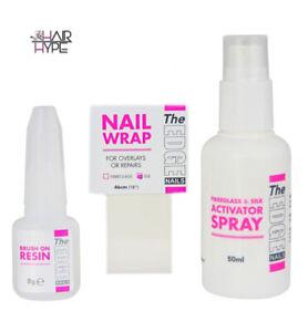 The Edge Nail Silk Wrap Trial Kit Nail Resin Repairs Natural