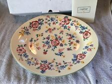 """New ListingLongaberger Spring Floral Pottery Collection 13"""" Platter Vtg 2001 With Box"""