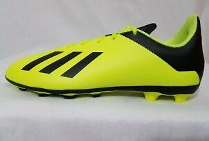 Adidas X 18.4 Soccer Cleats FG Size 3.5-5 Youth Boys Yellow Black DB2420