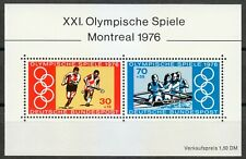 Germany 1976 MNH Mi Block 12 Sc B532a-b Olympic Games,Montreal.Hockey,Rowing **