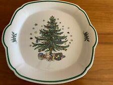 "NIKKO CHRISTMAS TIME TREE COOKIE CAKE PLATE DISH PLATTER 10"" X 9.5"""