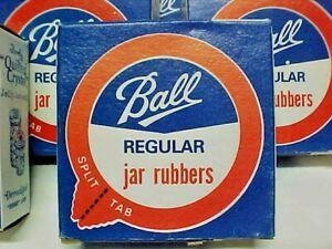 Vintage Unopened Boxes 12 Regular Ball Split Tab Jar Rubbers per box Buy 1 to 9