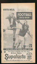 1964 Football Record North Melbourne v Fitzroy Home & Away August 15 Roos Lions