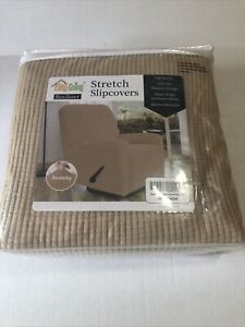 Easy-Going Recliner Stretch Slipcover Cover 4-Pieces (Recliner, Sand)