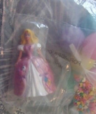 """New Birthday Barbie with Balloons Cake Topper / Decoration 3 1/4"""" High Figure"""