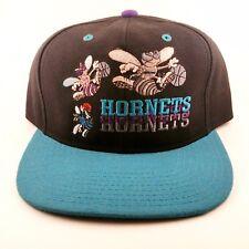 Vintage 90's Charlotte Hornets NBA Pro Layer Wool Snapback Hat Big Logo Rare