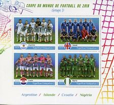 Madagascar 2018 MNH World Cup Football Russia Argentina Croatia 4v M/S Stamps