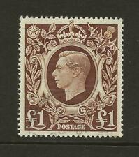 GB 1939-48 SG478c £1 Brown High Value Very Fine Used Cat £26