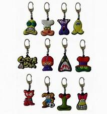 Lot of 72 Pieces - Crazy Bones Keychains with Metal Rack Display