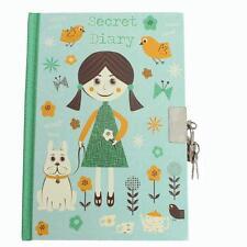 Tallon A6 Undated Secret Diary with Padlock & Keys - Green