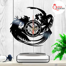 """Country Farm Rooster 7 1//4/"""" Real Saw Blade Clock Kitchen Chicken"""