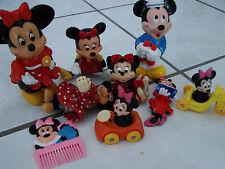 Vintage Minnie Mouse PVC figure lot Applause illco car