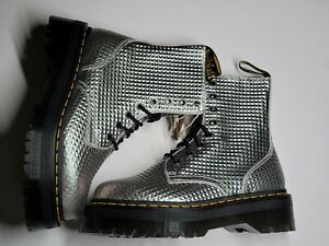 New Dr.Marten Women's JADON  Silver Stud Embossed Lace-up Boots NWT. Size US 7 M