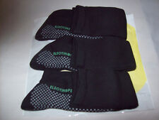 3 Pair Mens Large Black Energy Socks Eleotin Protection Compression Circulation