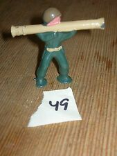 ca 1960'S BARCLAY DIMESTORE LEAD TOY SOLDIER WITH BAZOOKA #49