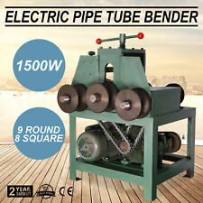 Electric Pipe Tube Bender 9 round and 8 square Protable Die set 1500W Power