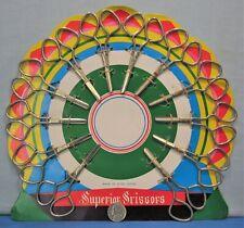 1 Dozen Quality Steel Scissors 1960's Die Cut Dime Store Display Card