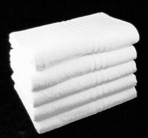 2 Pack White Bath Sheets 100cm x 150cm Full Size 100% Cotton 500gsm