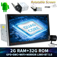 "2DIN 10.1""Android 10 Rotatable Car DVD Stereo Head Unit Radio GPS Navi SWC WiFi"