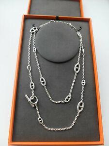 "HERMÈS Kette  ""FARANDOLE"", Länge: 120cm. 925 Silber + orig. Box"
