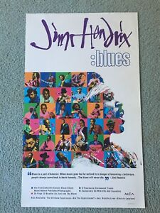 Jimi Hendrix :Blues Promo Poster Thin Stock MCA Original