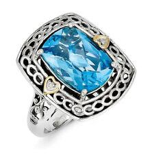 Anelli di lusso in argento con pietra principale topazio diamante