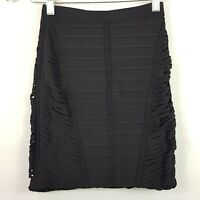 [ HERVE LEGER ] Womens Black Bandage Skirt RRP$500+ | Size S or AU 8 / US 4
