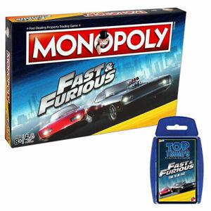 Fast & Furious Monopoly & Top Trumps Bundle