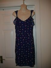George Blue Dress with Ice-Cream Design Size 12 Summer Holiday Outfit