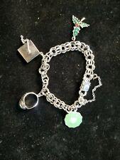 Argyl Sterling Ring Grad Cap Charms Vintage Sterling Silver Charm Bracelet w Pen