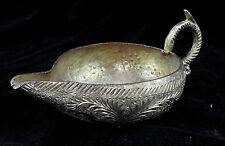 Lampe à huile en bronze ciselé d'Afrique de nord