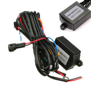 Car DRL LED Fog Light Automatic ON/OFF Controller Module Box Relay Harness Kit