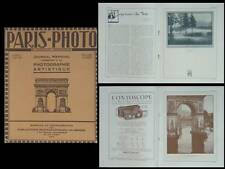 PARIS PHOTO 1923 - REVUE, PICTORIALISME, WILLIAM SHIELDS, WILLIAM ALCOCK,PAYOT,