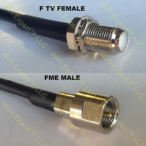 USA-CA LMR100 F FEMALE to FME MALE Coaxial RF Pigtail Cable