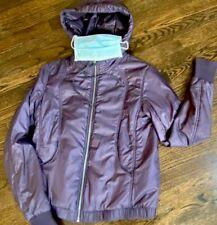 Lululemon Sz Small To Med. 6 Double Zip Jacket Plum Nylon & Fleece Perfect Now!