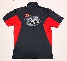 Audi Sport Mens Size L Black Polo Official Merchandise Embroidered