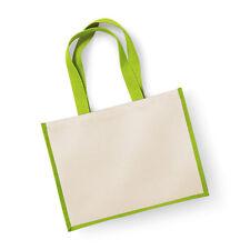 Westford Mill Printers Jute Classic Shopper Bag Ladies Tote Handbag (W422)