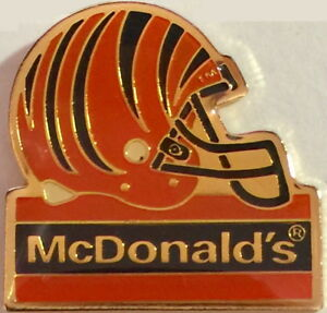 McDonald's 1994 NFL FOOTBALL Helmet Enamel Gold PIN Cincinnati Bengals GROUP II