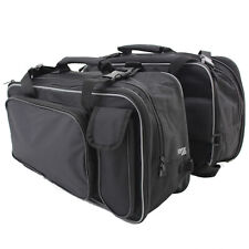 Ryde Twin Motorcycle Pannier Bags, Black