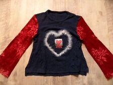 TOGSZONE schönes Langarmshirt Herz blau rot Gr. 104 w. NEU ST817