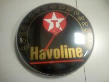 Vintage Texaco Havoline Round Thermometer Advertising Gas Station Wall Store
